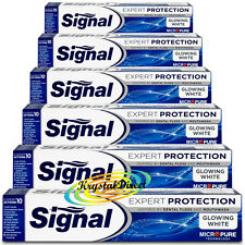 6x Signal Glowing White Expert Protection Micro Pure Technology Toothpaste 75ml
