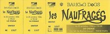 RARE / TICKET BILLET DE CONCERT - LES NAUFRAGES LIVE A PARIS 1996 / COMME NEUF