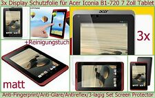 3x Antireflex matt Display Schutz Folie Acer Iconia B1-720 7 Tablet PC Kratzfest