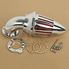Chrome Air Cleaner Intake Filter Kit For Harley Davidson CV Custom Sportster XL