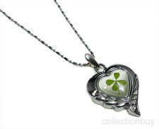 Lucky Irish Four-Leaf Clover Heart Necklace Jewelry#2