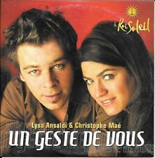CD SINGLE 3 TITRES--LYSA ANSALDI & CHRISTOPHE MAE--UN GESTE DE VOUS--2005