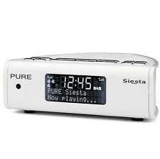 Pure Siesta Series 2 Digital DAB FM Radio Alarm Clock White