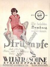 """""""KASEMA BEMBERG WELKER Russdorf DRECHSEL Gornsdorf Strumpffabrik"""" Reklame 1927"""