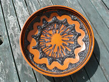 Genuine Retro Fat Lava Volcanic Glaze West Germany Bowl 340-25 Orange Scheurich?