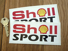 SHELL SPORT 6in 150mm oblong Rally Race car stickers