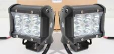 Pair of 18W CREE LED work light / lamps 1800Lm 9-32V spot/flood lights