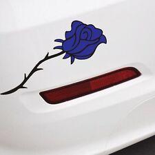 blue flower car sticker Bumper Van Window Laptop JDW VINYL Decals Rose Stickers