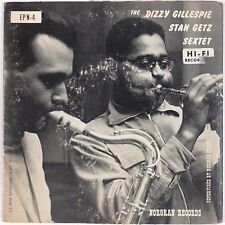 "DIZZY GILLESPIE, STAN GETZ SEXTET: Exactly Like You NORGRAN 50s Jazz EP 7"" 45"