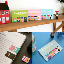 Cartoon 4Pcs(1Set) Korean Magnetic Metal Bookmark Book Clip School Gift New