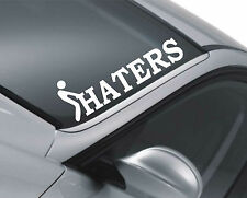 Haters Parabrezza Adesivo Decalcomania Auto Drift JDM VW Dub Euro Fatlace Dapper funnym2