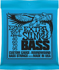 2 Pack!  Ernie Ball 2835 Extra Slinky Bass Guitar Strings 40-95 Free US Shipping