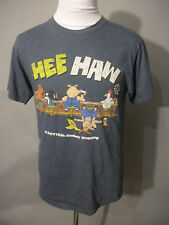 """Hee Haw"" Graphic Gray Donkey Dropping T-Shirt Sz M / Med Cotton/Poly Blend Tee"