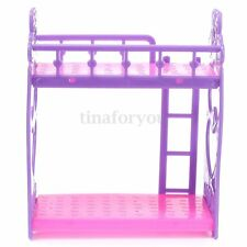 Plastic Bunk Bed W Ladder 1:6 For Barbie Kelly Doll's House Dollhouse Furniture