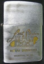 Vintage Zippo Lighter Fort Steuben Metal Shelving Weirton, WV