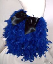 FEATHER BUSTLE WITH BOW. BURLESQUE, SHOW GIRL. ROYAL BLUE