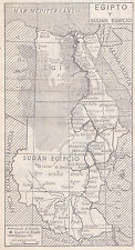 1954 Antique Map of Egypt and Sudan