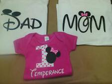 Disney Family Custom Shirts Mom Dad and Kid Mickey Minnie Number Name 3 Shirts