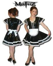 Misfitz black pvc  corset effect frily glamour maids dress,size 20