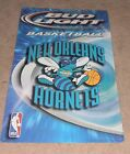 VINTAGE 2003 OFFICIAL NEW ORLEANS HORNETS BUD LIGHT BEER TIN SIGN PELICANS