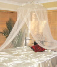 Classic Resort Style Cream Mosquito Net Bed Canopy - One Size Fits all Beds