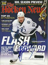 Steven Stamkos Hand Signed The Hockey News Magazine Tampa Bay Lightning Hockey
