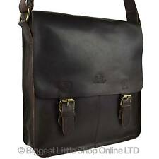 NEW MENS LADIES Oil Tanned Buffalo LEATHER North/South Cross Body Bag ROWALLAN