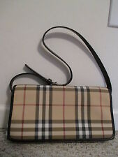 BURBERRY LONDON HAYMARKET PLAID SHOULDER HANDBAG MADE IN ITALY
