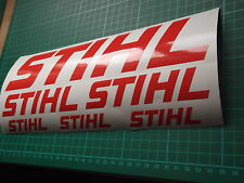 STIHL LOGO style  STICKERS  CHAINSAW VAN  WORKSHOP Tree Surgery x6