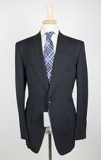 NWT TOM FORD Classic Black Peak Lapels Wool 2 Button Suit Size 48/38 L Base A