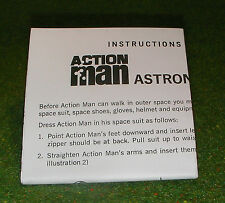 VINTAGE ACTION MAN 40th MANUAL LEAFLET ASTRONAUT
