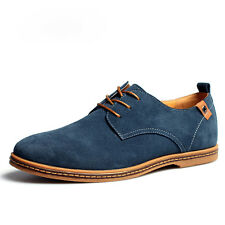Men's Suede Leather Shoes Fashion Comfort Casual Flats European Style Multi Size