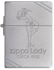 Zippo Windy Girl Lady Circa 1935 Replica Lighter w/ Slashes Windproof RARE