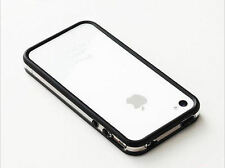 Dual Colour Bumper Case Cover for Apple iPhone 4 4S Black / White UK