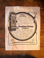 "VINTAGE REPRINT ADVERT STROMBERG-CARLSON TELEPHONE FARM & HOME 1906 18x24"" (271)"