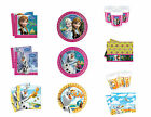 DISNEY FROZEN PRINCESS BIRTHDAY PARTY TABLEWARE - PLATES CUPS NAPKINS TABLECOVE