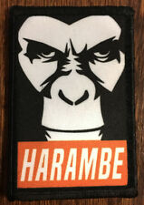 Harambe Morale Patch Tactical Military Army Badge Hook Flag USA
