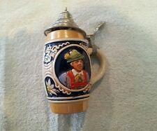 Handgemalt  #24 Vintage German Mini Stein with working cover