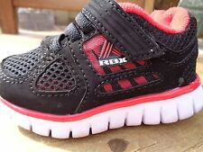 RBX Baby Shoes Size 5 Jonny Black with Red Trim EUC