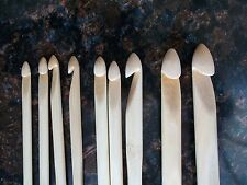 Bamboo crochet hooks/needles, sizes 6 - 15 (4.0 mm - 10.0 mm), set of 9