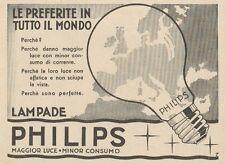 Z1153 Lampade PHILIPS - Pubblicità d'epoca - 1933 Old advertising