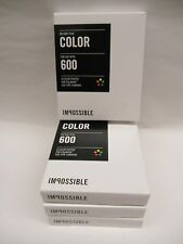Impossible 600 Color Film for polaroid 600 Cameras 10 packs of film