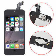 Black LCD Touch Digitizer Glass Screen Home Button + Camera Frame for Iphone 5C