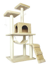 "New Beige 57"" Cat Tree Condo Furniture Scratch Post Pet House 5777"
