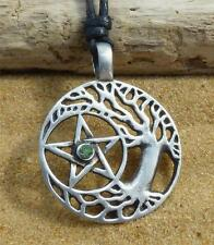 Tree of Life Pentacle Pendant Necklace Pentagram Druid Pagan Wicca Jewellery