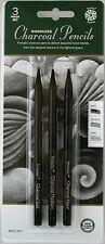Pentalic Woodless Charcoal Pencils, 3 Piece Set