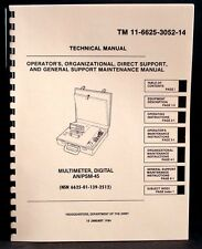 Army Manual Simpson 467 AN/PSM-45 Digital Multimeter