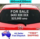 FOR SALE Sticker with Phone Price 600X300mm CAR Window vinyl Decal Custom sign