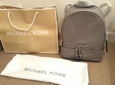 Brand New Genuine Michael Kors Medium Rhea Grey Backpack