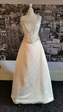 Pronovias Beaded Bodice + Skirt with amazing Train (Ivory) RRP £725